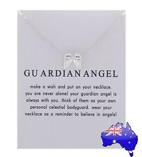 Dogeared Silver GUARDIAN ANGEL Angel Wings Inspirational Pendant Necklace Gift