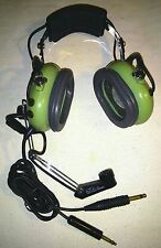 DC DAVID CLARK H10-30 (12507G-10) HELICOPTER PILOT AVIATION HEADPHONES +  MIC