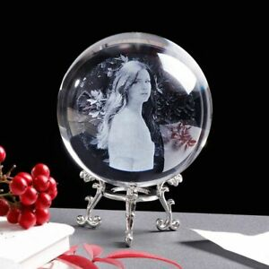Photo Ball Personalized Crystal Customized Picture Sphere Globe Home Decoration
