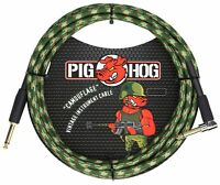 """Pig Hog Instrument Cable """"Camouflage"""" 1/4' to 1/4' 10 ft.Right Angle, PCH10CFR"""