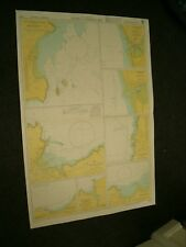 Vintage Admiralty Chart 1484 Plans In Cardigan Bay 1975 edn