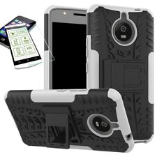 Hibrido Funda Estuche 2 Piezas Blanco para Motorola Moto E4 PLUS + H9