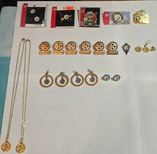 Pittsburgh Steelers NFL Licensed Jewelry Necklace, Pin, Ear Ring 23 Piece Set