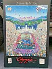 """The Olympic Experience Melanie Taylor Kent USA 1984 Poster Artist Signed 36"""""""