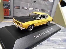 Ford Capri MKI 1700 GT COUPE 1969 - 1972 Jaune Noir 1700gt IXO Altaya Rar 1:43