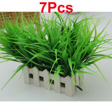 7 Artificial Fake Plastic Green Grass Plant Flowers Home Party Garden Decoration
