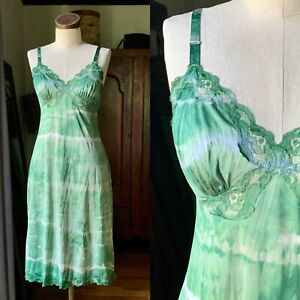DYED PETALS Vintage Botanically Dyed Tie-Dyed Slip Dress S/M 34