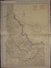 1922 LARGE AMERICA MAP ~ IDAHO RAILROADS CITIES CUSTER LINCOLN  RAND MCNALLY
