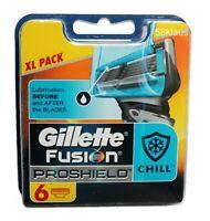 6x Gillette Fusion ProShield Chill Klingen 6er blades Gillete Gilette Gilete OVP