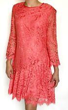 Eliza J Pink Coral Orange Lace Shift Dress NWT Retails $158 Price $69 Size 2
