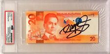 Manny Pacquiao Pacman Signed Philippines 20 Pesos Dollar Boxing PSA/DNA Slabbed