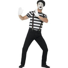 Smiffy's Gentleman Mime Artist Adult Men's Black and White Costume Size Large