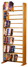 DVD Rack Solid Oak 7-Rows (280 DVDs). Handmade in USA.