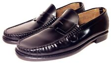 bloomingdales The Men's Store Sz10 BLK. Leather Penny Loafer ITALY Excellent Pre