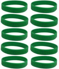 10 Green Organ Donor Ribbon Awareness Bracelets- Quality Silicone