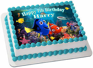 FINDING NEMO & DORY  REAL EDIBLE ICING  CAKE TOPPER PARTY IMAGE FROSTING SHEET
