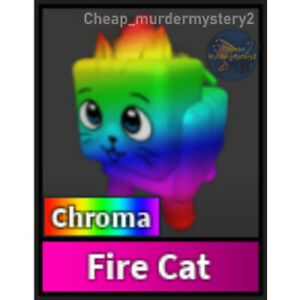Murder Mystery 2 MM2 Chroma Fire Cat Roblox *FAST DELIVERY* Read Description