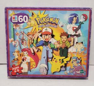 Jigsaw Puzzle Pokemon Gotta Catch em All! Milton Bradley - Complete Vintage 1998