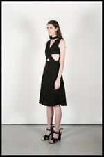 "NWT Black OSKAR THE LABEL ""Cage of Love"" A-Line Cut Out Waist Dress Size S/8"