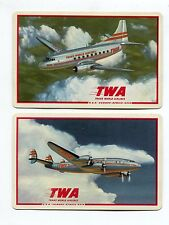 AIRLINES: TWA Trans World Airlines - 2 Single Swap / Playing Cards
