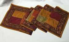 """Pier 1 Imports Fall Decor Embroidered Quilt Table Runner Fabric 14"""" x 74''"""