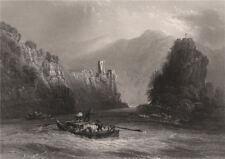 The 'Strudel' (whirlpool), Grein, Werfenstein, Austria. Danube Donau 1840