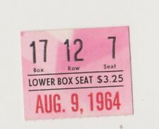 "PHILADELPHIA PHILLIES ""PHOLD"" TICKET STUB VS. NEW YORK METS AUGUST 9,1964"