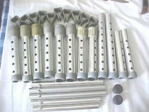 Walker Replacement Parts Lot of 29 Nine Sizes of Extensions Two Tips 10 Brackets