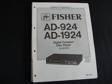 Original Service Manual Fisher AD-924 AD-1924