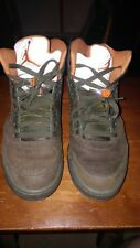 2006 Nike Air Jordan V 5 Retro Olive 9.5 LS Undefeated Green Orange 314259-381
