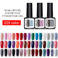 8ml LEMOOC Nail UV Gel Polish  Red Soak off Nail Art Glitter UV Gel Color