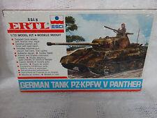 ERTL ESCI German Tank PZ-KPFW V Panther Tank Model Kit 1/72 sealed