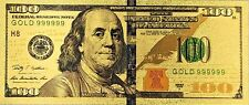 100 dollar gold-plated banknote