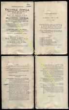 1899  CHRISTIES Auction, Victoria Cross & .JEWELS of F.Millard, Diamond Merchant