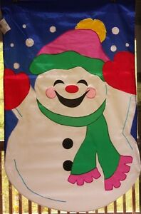 Let it Snow Snowman Flag by NCE  90359