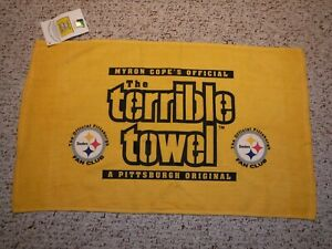 PITTSBURGH STEELERS TERRIBLE TOWEL STEELERS FAN CLUB TERRIBLE TOWEL WITH TAG