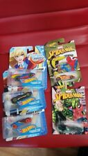5x hot wheels dc super hero girls and marvel spider-man cars