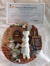 Pillsbury Doughboy Poppin Danbury Mint Italian Zucchini Crescent 3D Plate 2001