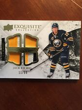 15-16 UD Hockey Black Diamond Jack Eichel Rookie Exquisite Quad patch 11/99