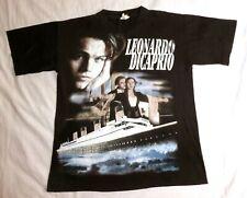 Vintage Leonardo DiCaprio bootleg Titanic Rap tee shirt 90's single stich S size