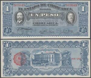 Mexico - Estado De Chihuahua, 1 Peso, D. 1914, UNC, P-S530(e)
