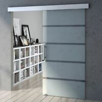 Brand new Tempered Frosted Sections Sliding Door With Bar Handle 775-1025mm
