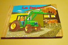 "rare LIVRE ""LA FERME"" JOUET JEUNESSE tracteur articulé GERLINDE CONRAD vintage"