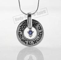 Hamsa CILELO del ojo SHEMA ISRAELJoyería Collar Plata del colgante del encanto