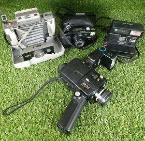 Job Lot Of Vintage Film Cameras- Polaroid/sankyo/canon **Spares Or Repairs**
