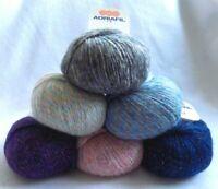 50g Adriafil LED Sportweight DK Sparkly Metallic Merino Wool Knitting Yarn