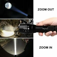 2Pcs T6 Torches LED 1600 Lumen Super Bright Powerful Cree T6 Tactical Flashlight