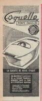 PUBLICITÉ PRESSE 1958 COQUELLE LE CREUSET FONTE ÉMAILLÉE COCOTTE DE NOTRE EPOQUE