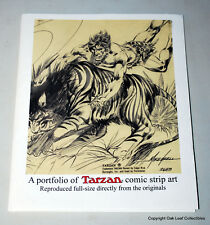 PORTFOLIO OF TARZAN COMIC STRIP ART 2008 Hal Foster Burne Hogarth 25 plates.
