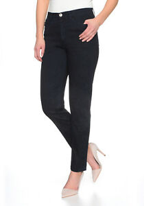 ✅Stooker Nizza Damen Stretch Jeans Hose - Blue Flower - Tapered Fit